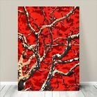 """Beautiful Japanese Floral Art ~ CANVAS PRINT 24x18"""" ~ Branches Red Sky Blossums"""