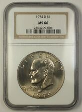 1974-D US Eisenhower Clad Dollar Coin $1 NGC MS-66 Gem