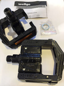 Wellgo Alloy F265 Folding Pedals 2 DU System with Boron Axle (Pair) Black.