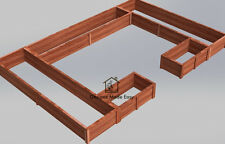 Easy DIY Raised Garden Bed Frame - Design Plans Instructions for Woodworking 04