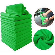 10pcs Green Auto Car Microfiber Clean Towel Soft Cloths Wash Duster Kitchen Tool