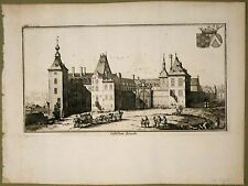 Gravure de Harrewijn, Belgique, Chateau de Limale