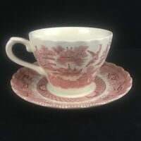VTG Cup and Saucer by Royal Wessex Willow Rosa Floral  Made in England
