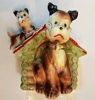 Ceramic Bank Japan VTG Scottish Terrier Dog Cold Paint Schnauzer Airedale AS IS
