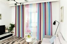 Modern Curtains Blackout Thick Striped Living Room Bedroom Gradient Curtain
