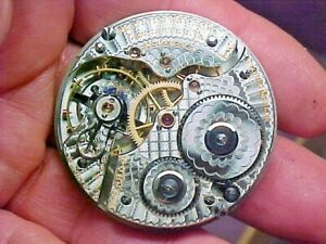 Scarce Hamilton 16S 21J 990 Open Face Leverset Nickel Movement