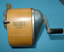 VINTAGE REXEL 60s DESK TOP PENCIL SHARPENER FADED TO TOFFEE COLOUR