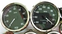 Smiths Replica 100 mm Speedometer 180 KPH anti clock with Tachometer clock wise
