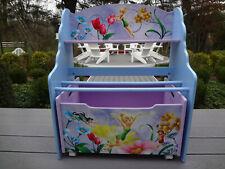 Disney Delta Childs Kids Girls Desk Bookcase & Rolling Toy Storage Box Furniture