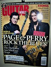 Led Zeppelin Jimmy Page Joe Perry Aerosmithguitar World Mag April 2004 Cool