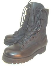 Wellco mens Boots Combat US 3 W Black Leather Textile Lace Military Vibram