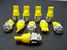 10 Amber Yellow BRIGHT Instrument Panel Speedometer Dash Light Bulb LEDs NOS Dod