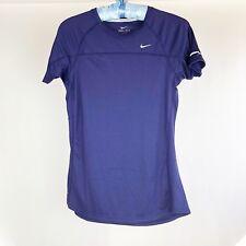 NIKE Women's Miler Top Size M Medium Running Purple Shirt 405254 422 NWT