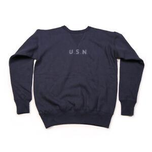 Bronson Repro 1940s USN Training Plain Sweatshirt Vintage Naval Clothing For Men