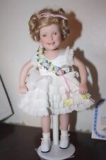 "SHIRLEY TEMPLE Movie Classics BABY TAKE A BOW Doll 10.5"" Danbury Mint Porcelain"