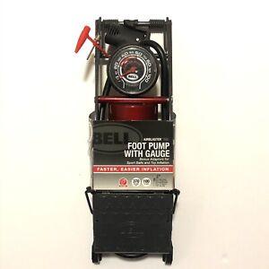 Bell Bicycle Air Pump Airblaster 500 High Volume Foot Pump 100 PSI Max Adapters