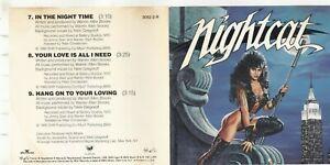 Nightcat by Nightcat (CD, Apr-1991, RCA/LMR) RARE 3082-2-R
