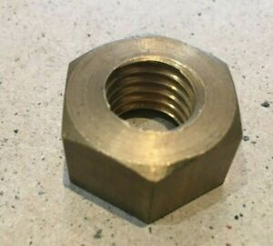 5/8 inch  Whitworth BSW Brass Hex Nuts 1 inch Across Flats. British Made.