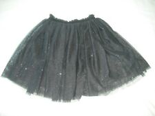 BNWT H&M girls black silver sparkle glitter netting party prom skirt 12-14 years