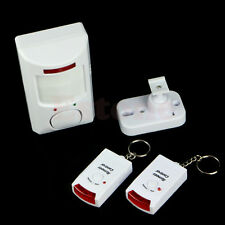 Pir Motion Sensor Wireless Alarm + 2 Remote Controls Shed Home Garage Caravan