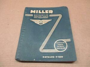1951-54 MILLER AUTOMOTIVE SERVICE TOOLS AND EQUIPTMENT CATALOG