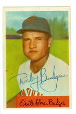 Rocky Bridges Autographed 1954 Bowman Card #156 Redlegs COA