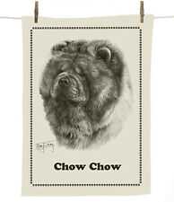 Mike Sibley Chow Chow dog breed cotton tea towel - dog lover gift