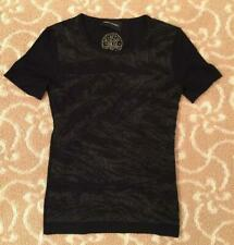 Arzu Kaprol Short Sleeve Black Sweater Size Small