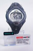 Timex Ironman Watch 30 Indigo Gray LED With Resin Strap