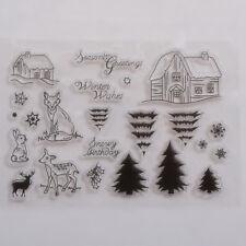 11*16cm Fairy Animal Tree Clear Transparent Stamp DIY Scrapbook Card XmasDecorWF