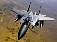 MILITARY AIR PLANE FIGHTER JET F-15E BOMBER FLY ROCKET MISSILE POSTER BB1028A
