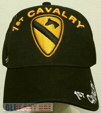 1ST FIRST TEAM U.S. ARMY ARM DIVISION HORSE CAVALRY CAV UNIT INSIGNIA CAP HAT OS
