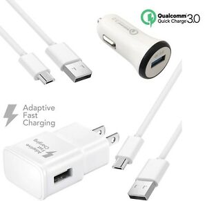 For Samsung Galaxy S6 S7 Note 4 5 Fast Charging USB Car&Wall Charger+Cable