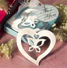 Heart Butterfly Creative Exquisite Alloy Bookmarks With Ribbon Box Gift ☆