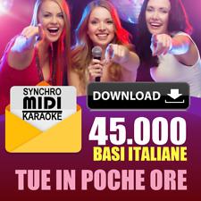 45.000 BASI ITALIANE MIDI con testo per KARAOKE AGGIORNATE RECENTI 2020 DOWNLOAD