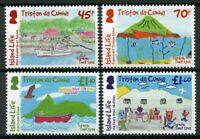 Tristan da Cunha 2019 MNH Island Life Childrens Drawings 4v Set Boats Stamps