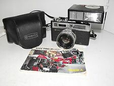 Yashica Electro 35 GS Vintage 35mm Camera Case Manual & Flash Unit