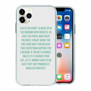 For Mobile Phone TPU Back Case Cover Sayings Quotes Worth it - A1234