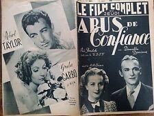 """LE FILM COMPLET 1937 N 2037 """" ABUS DE CONFIANCE """": DANIELLE DARRIEUX et CH.VANEL"""