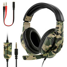 Gaming Headset Camo Stereo Headphone for NS PS4 Pro Xbox one Laptop 3.5mm w/ Mic