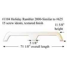 Holiday Rambler RV  Fender Skirt FIBERGLASS  #1104 White **SEE DESCRIPTION*
