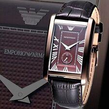 EMPORIO ARMANI MEN'S BROWN CLASSIC EDITION SECOND DIAL WATCH AR1606