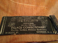 Steve Kledes Palace Confectionary Ice Cream Candy Cigars Riverside NJ Matchbook