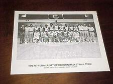 1976 University of Oregon Ducks Team Basketball Photo