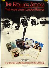 """Rolling Stones - Their Roots Are On London Records 23"""" X 16.5"""" Promo 1981 Poster"""
