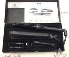 Royale Full Set-Black 100% Ceramic Hair Straightener+Curler+Mini Flat Iron