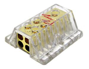 Audiopipe PB-1448 1 to 4 Power Distribution Block 4 Gauge Input, 8 GA Outputs