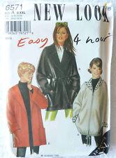 Jacket Sewing Pattern  Miss Sizes S-XXL  New Look 6571 Uncut Fast & Easy Pattern