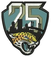 JACKSONVILLE JAGUARS 25TH ANNIVERSARY PATCH 1995 - 2019 SEASON NFL FOOTBALL