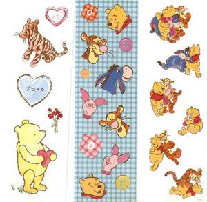Winnie the Pooh Stickers - Vintage